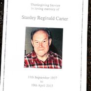 Stan Carter Funeral Booklet (2015)