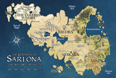 Sarlona map