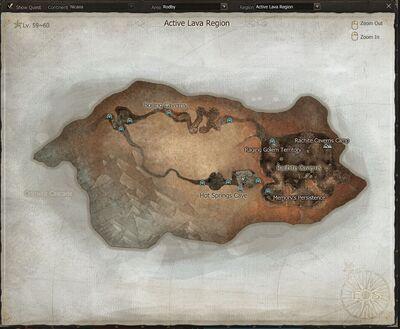 Active Lava Region - Rodby
