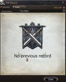 PvP Record - 3v3 Free Arena