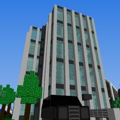 The building at 667 Dark Avenue, with the Ersatz Elevator on the side.