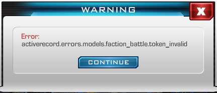 Faction battle.token invalid