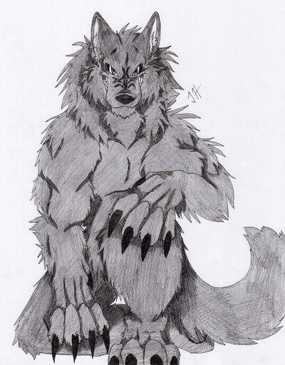 Dark werewolf by firewolf anime-d31nsi1