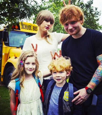 File:Taylor Swift, Ed Sheeran and lookalikes from Everything Has Changed music video.png