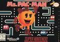 SNES Ms Pac-Man Game Box