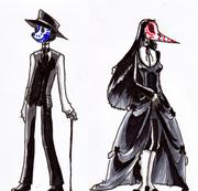 Necromancer sketch card