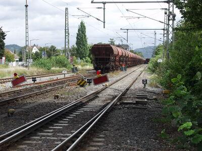 Schorndorf Gleisende Bauzüge