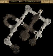 Mamaea, Shrine of Pitted Dreams Interior Map - Morrowind