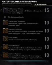 Battlegrounds Achievements - 1