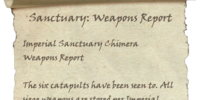 Sanctuary: Weapons Report
