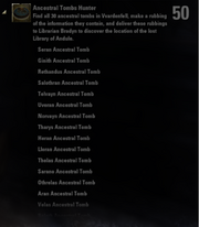 Ancestral Tombs Hunter Achievement - Page 1