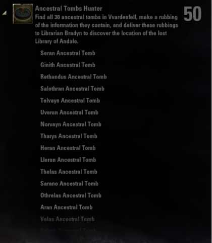File:Ancestral Tombs Hunter Achievement - Page 1.png