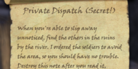 Private Dispatch (Secret!)