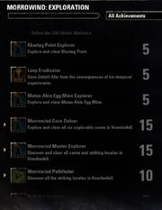 Morrowind Exploration Achievements - 2