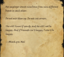 Note from Akash