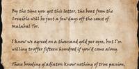 Letter to Kathner
