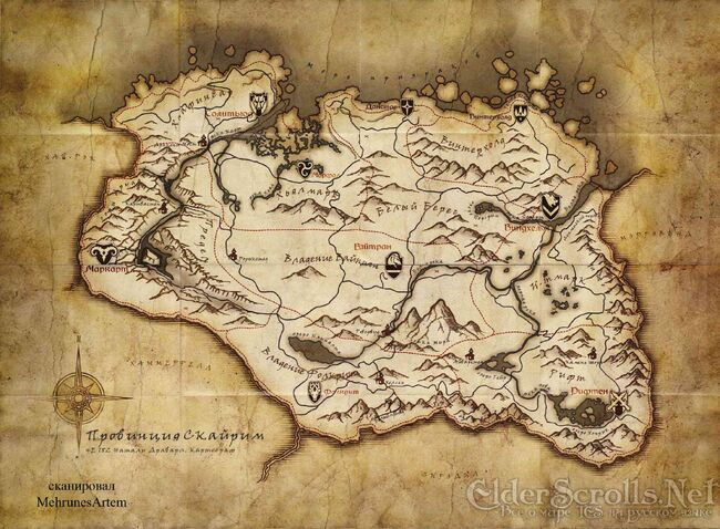 Pre order Skyrim map