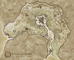 Cyrodiil Regions Map