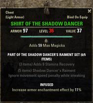 Shadow Dancers Raiment - Shirt 36