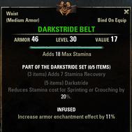 Darkstride - Belt 30