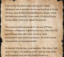 Veiled Heritant's Letter