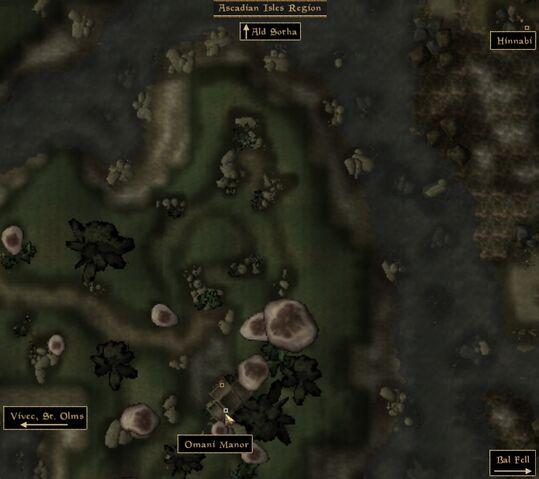 File:TES3 Morrowind - Ascadian Isles - Omani Manor location map.jpg