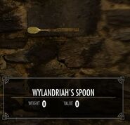 Skyrim quest Wylindriahs Spoon