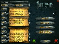 Battlespire Interface