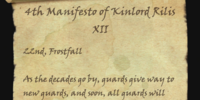 4th Manifesto of Kinlord Rilis XII