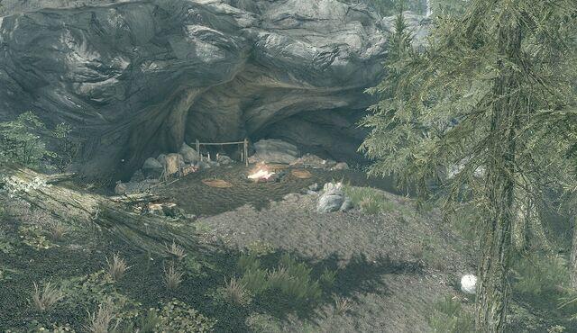 File:Bandit Camp - Helgen Cliffs.jpg