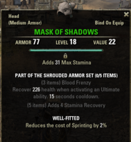 Shrouded Armor - Mask 18