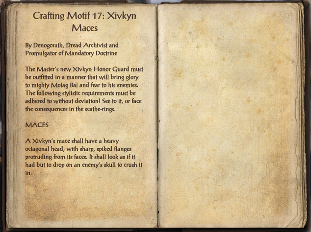 File:Crafting Motifs 17, Chapter 10, Xivkyn Maces.png
