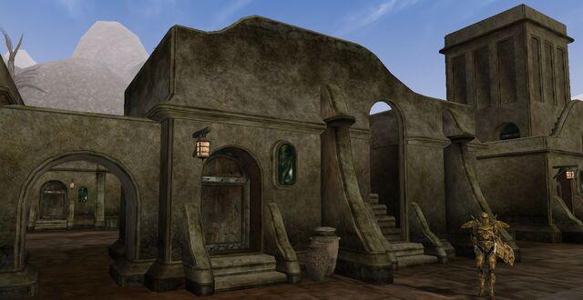 File:TES3 Morrowind - Balmora - Drarayne Thelas' House Drarayne Thelas' Storage exterior.jpg