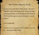We Know, Many-Rocks