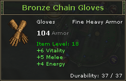 Bronze Chain Gloves