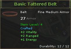 Basic Tattered Belt