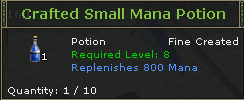 Crafted Small Mana Potion
