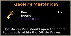 Gaoler's Master Key