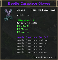 Beetle Carapace Gloves