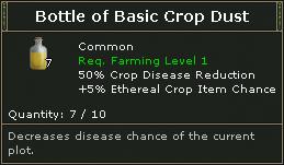 Bottle Of Basic Crop Dust