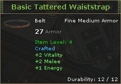 Basic Tattered Waiststrap