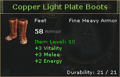 Copper Light Plate Boots