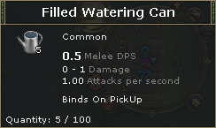 Filled Watering Can