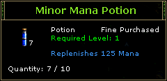 Minor Mana Potion