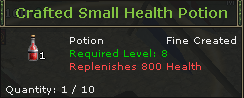 Crafted Small Health Potion