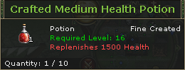 Crafted Medium Health Potion