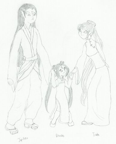 File:Photo of Aikido and her mom and dad.JPG