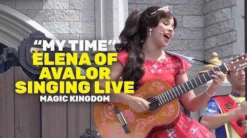 "Princess Elena of Avalor singing ""My Time"" live at Magic Kingdom, Walt Disney World"
