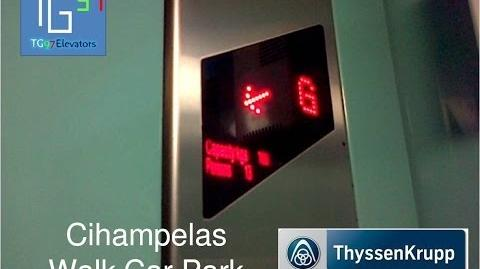 R ThyssenKrupp Traction Elevators at Cihampelas Walk, Bandung (Car Park)