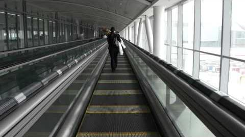 High-Speed moving walkway Toronto airport (YYZ)